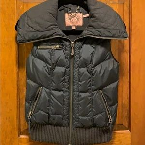 EUC Juicy Couture quilted feather down vest size p